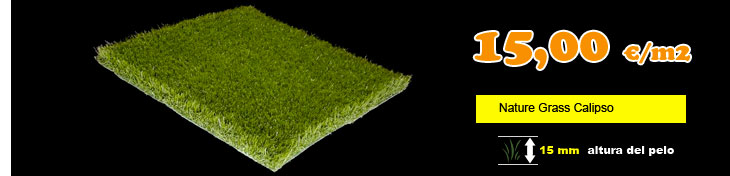 Cesped artificial nature grass calipso